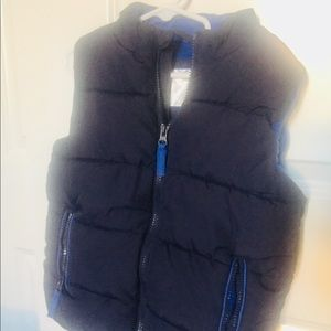 Other - Navy blue puff vest. Size 6-7 years old